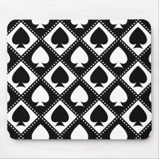 Ace of Spades Motif Mouse Pad