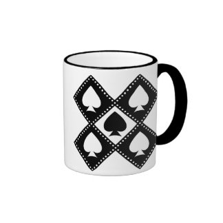 Ace of Spades Motif Coffee Mug