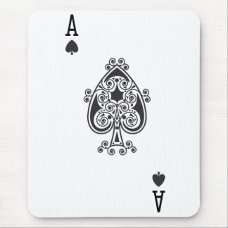 Ace of spades mouse pad