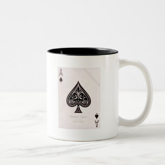 Ace of spades Two-Tone coffee mug