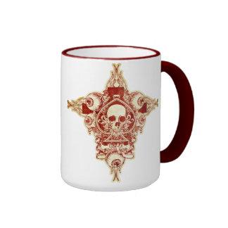 Ace of spades ringer coffee mug