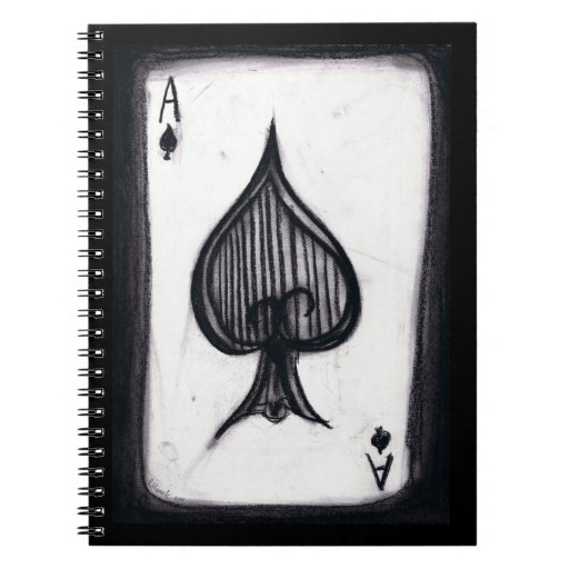 Ace of Spades Spiral Note Book