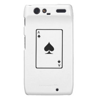 Ace of Spades Playing Card Droid RAZR Cover
