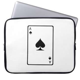 Ace of Spades Playing Card Laptop Sleeve