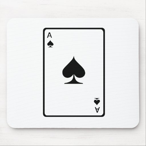 Ace of Spades Playing Card Mouse Pad