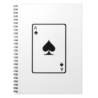 Ace of Spades Playing Card Note Book
