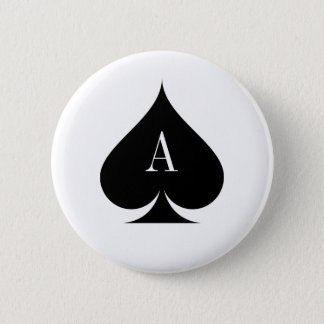 Ace of spades poker button