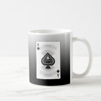 Ace of Spades Poker Card: Basic White Mug