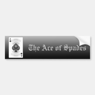 Ace of Spades Poker Card: Bumper Sticker