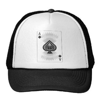 Ace of Spades Poker Card: Mesh Hat