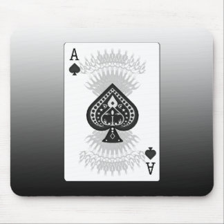 Ace of Spades Poker Card: Mouse Pad