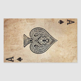 Ace of Spades Rectangular Sticker