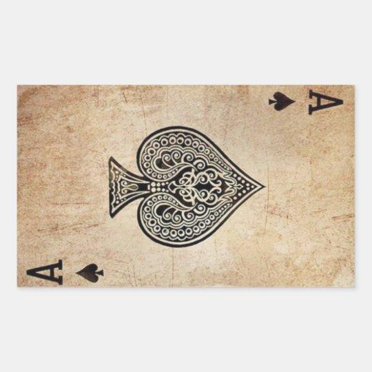Ace of Spades Rectangular Sticker