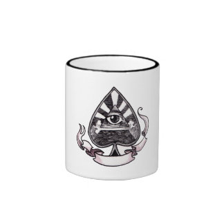 Ace of Spades Ringer Mug