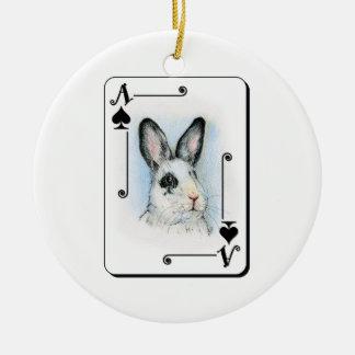Ace of Spades Round Ceramic Decoration