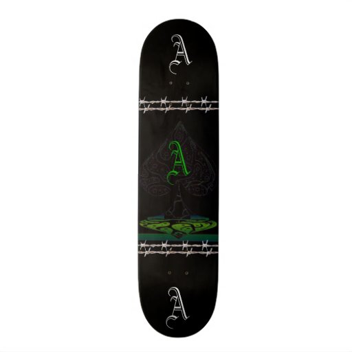 ace of spades skate board deck