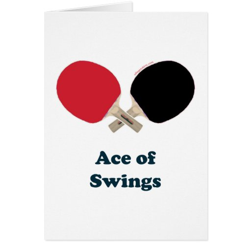 Ace of Swings Ping Pong Cards