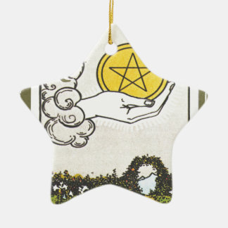 Ace Pentacles Fortune Teller Tarot Card Ceramic Star Decoration