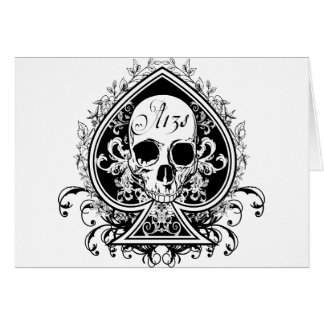 Ace Skull Greeting Card