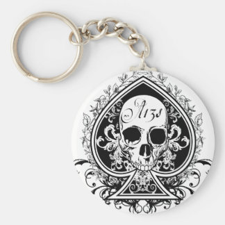 Ace Skull Key Ring