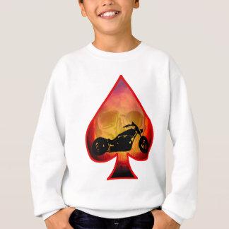 Ace Spades Biker Skull Sweatshirt