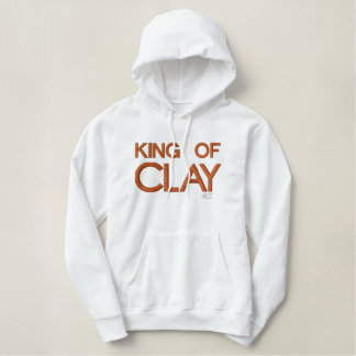 ACE Tennis KING OF CLAY Embroidered Hooded Sweatshirts