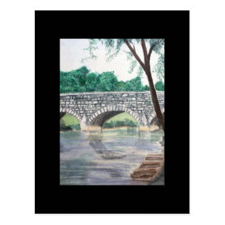 ACEO Art Trading Card - Under the Bridge Post Cards
