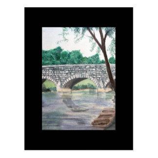 ACEO Art Trading Card - Under the Bridge Postcard