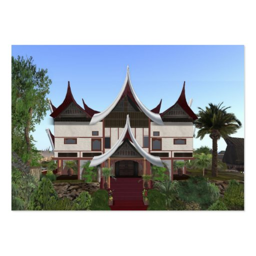 ACEO ATC Minangkabau Buffalo Horn Home Card Business Card Template