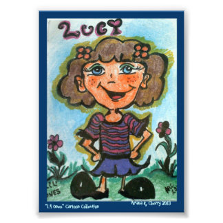 "ACEO ""LUCY"" Cartoon by Artist, Ariana R. Cherry Photo Print"
