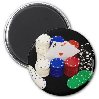 Aces 6 Cm Round Magnet