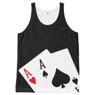 Aces All-Over Print Tank Top