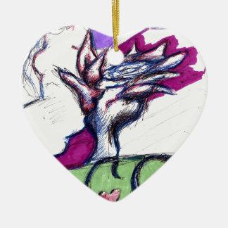 Aces Ceramic Heart Decoration