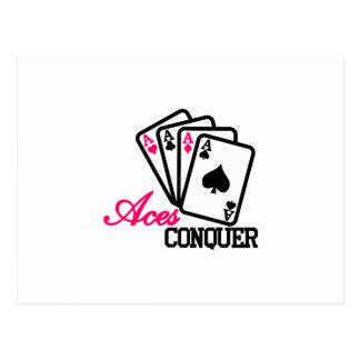 Aces Conquer Postcard