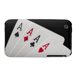 Aces Four of a Kind iPhone 3 Cover