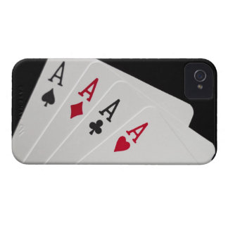Aces Four of a Kind iPhone 4 Case-Mate Cases