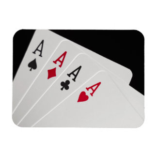 Aces Four of a Kind Rectangular Photo Magnet