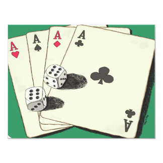 Aces High 11 Cm X 14 Cm Invitation Card