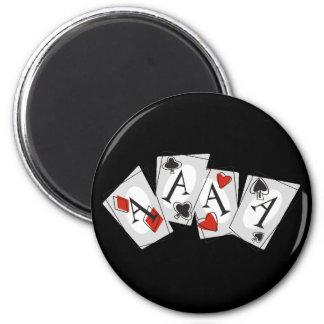 Aces High 6 Cm Round Magnet