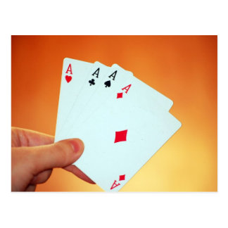 Aces-in-hand1892 CARDS ACES POKER GAMBLING GAMES P Postcard