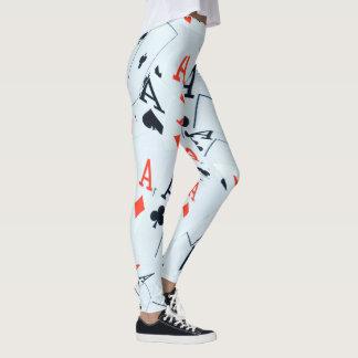 Aces Ladies Full Print Poker Leggings