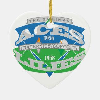 Aces-Lilies Logo Souvenier Ceramic Heart Decoration