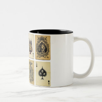 aces of spades vintage Two-Tone coffee mug