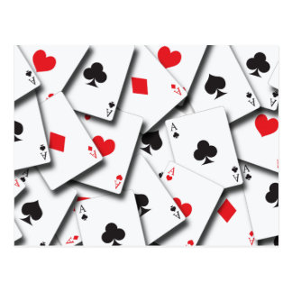 ACES PLAYING CARDS POSTCARD
