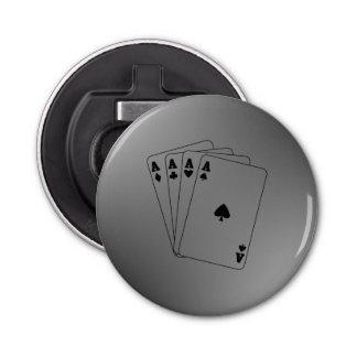 Aces Poker Hand Bottle Opener
