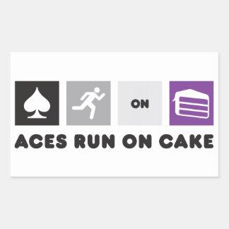 Aces Run on Cake Sticker