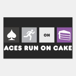 Aces Run on Cake Sticker Dark