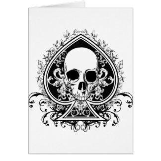 Aces Skull Card