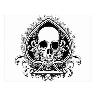 Aces Skull Postcard