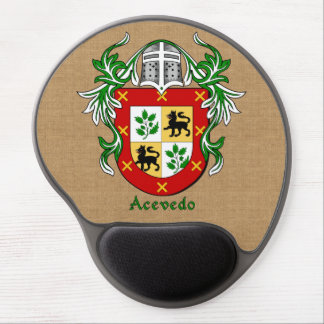 Acevedo Historical Arms and Mantle Burlap Style Gel Mouse Mat
